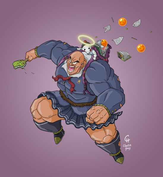 DBZ - School Girl Nappa