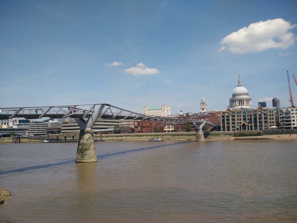 Millennium Bridge and St Paul's Cathedral - photo by Craig Tyndall