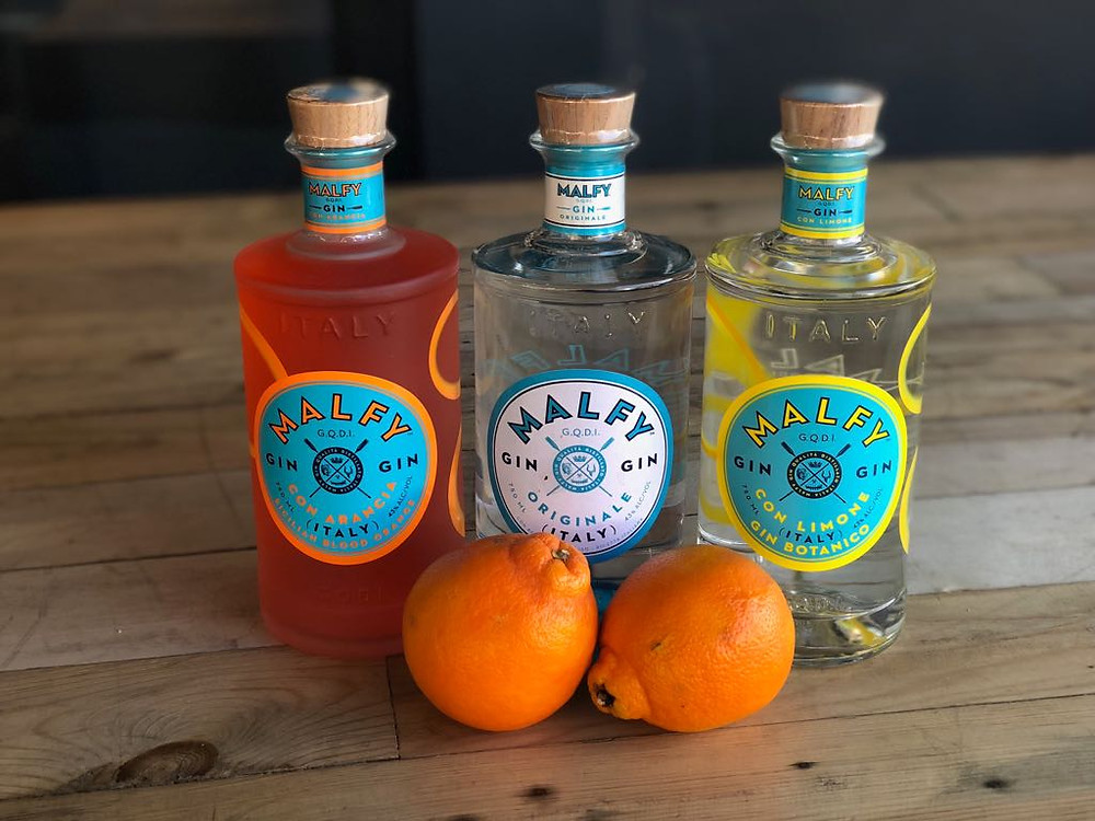 Their extesnive gin range includes Malfy