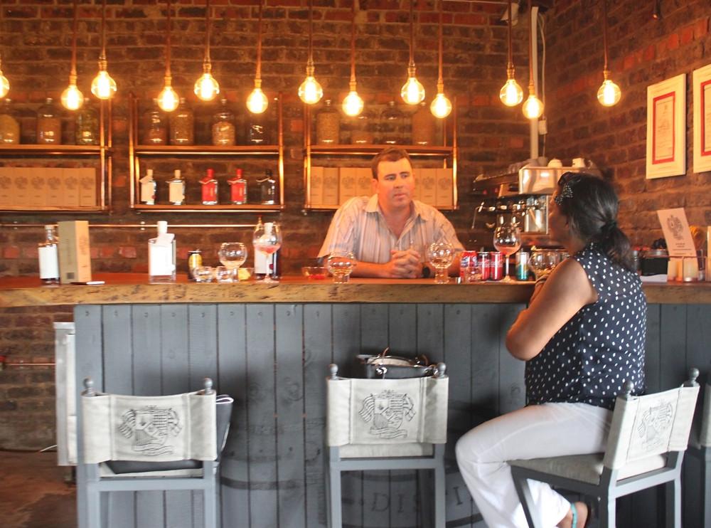 tasting at De Vry distillery