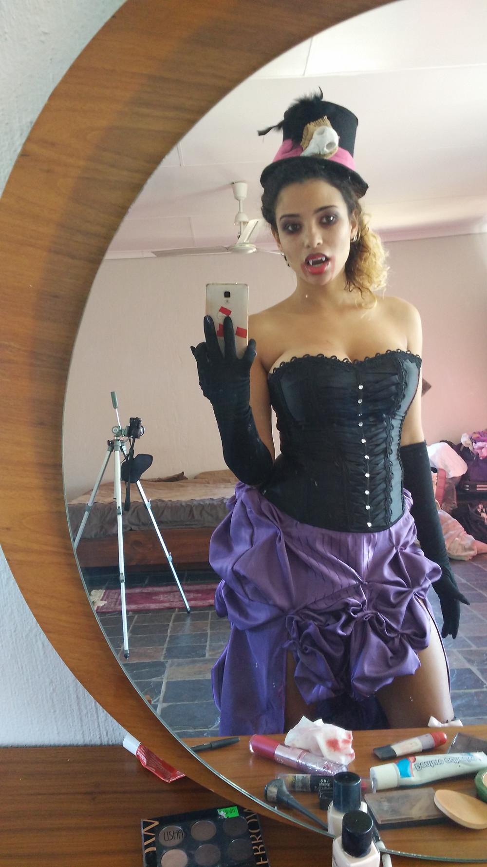 My Halloween vampire costume