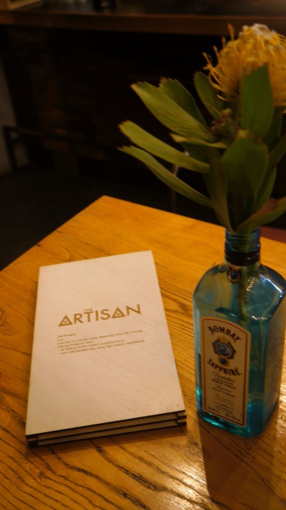 The Artisan's new menu