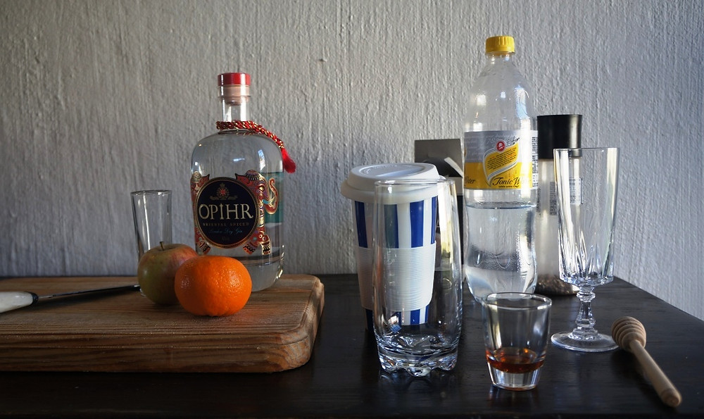 Opihr spiced gin and tonic