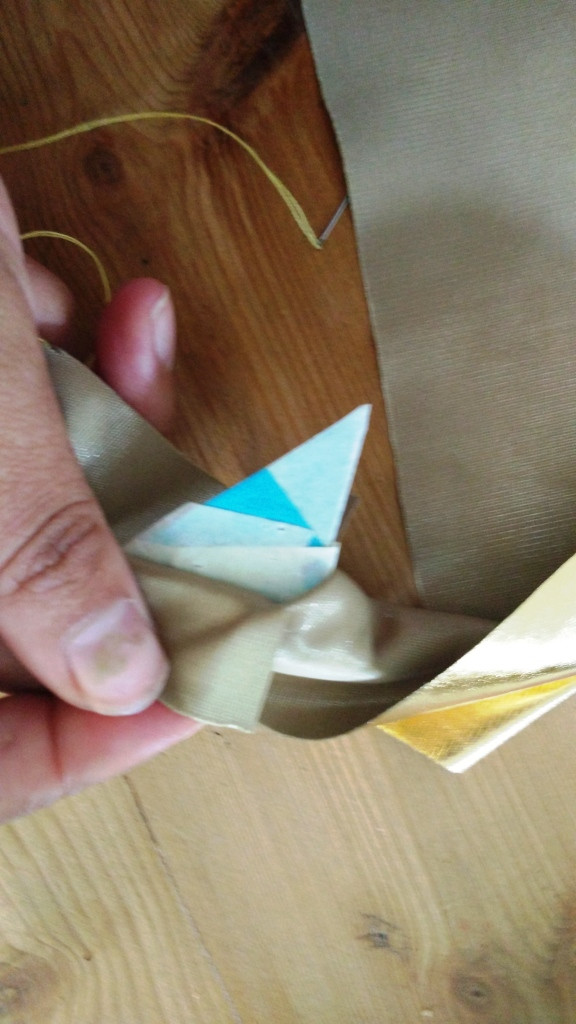 Use a Post-It to get that strong triagnle shape
