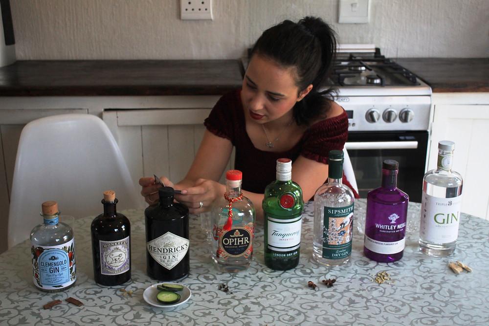 My sister examining to gins