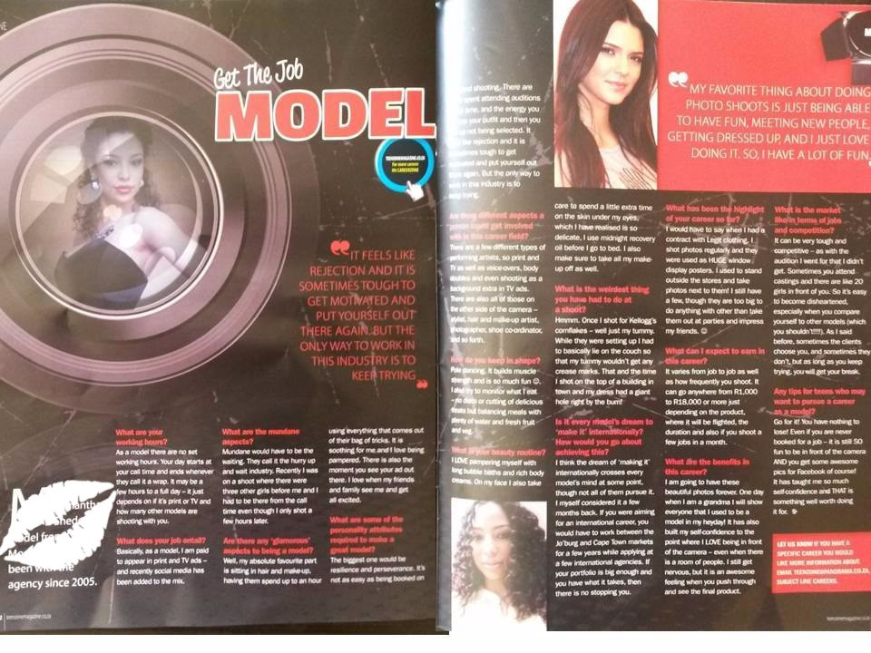 Interview I did with a magazine when I was a model mentor