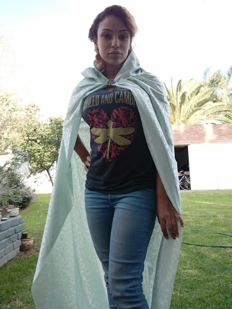 Cape that I made with bought fabric