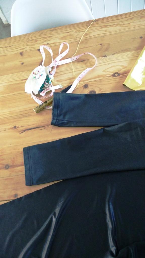 Using leggings as a template