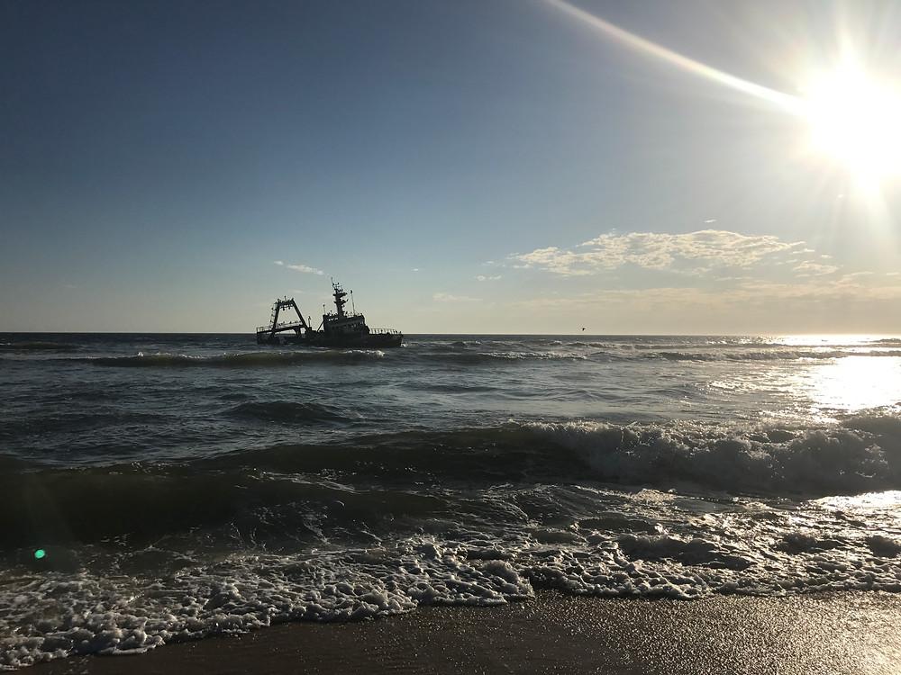 The Suiderkus shipwreck on the Skeleton coast