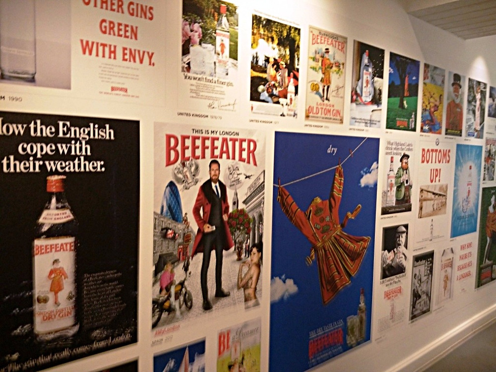 Various vintage Beefeater adverts