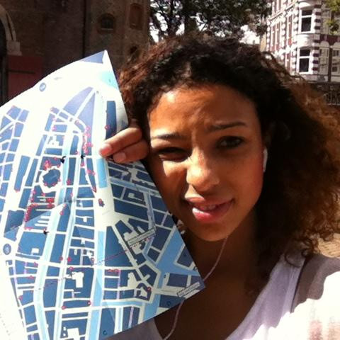 Holding a map while lost in Amsterdam
