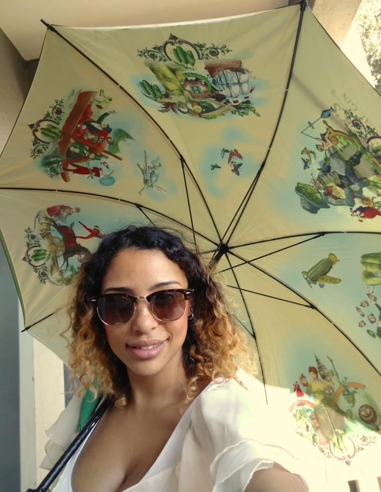 Stunning branded umbrella