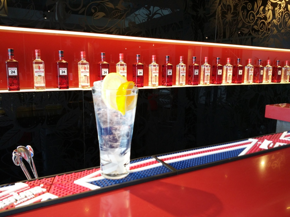 Gin and tonic at the Beefeater Distillery