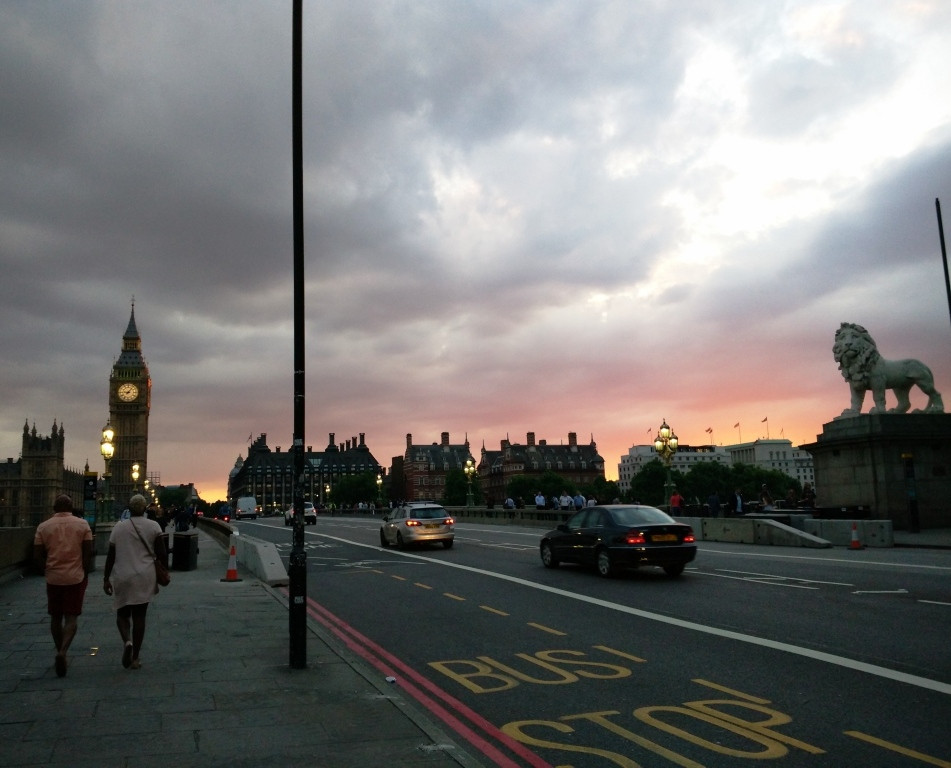 Dusk is exquisite in London