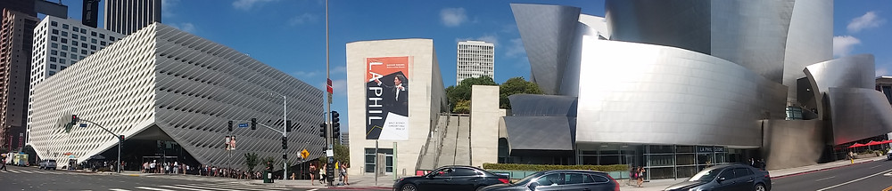 The Broad and The Walt Disney Concert Hall