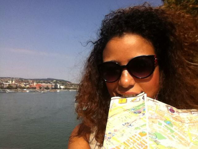 Holding a map while lost in Budapest