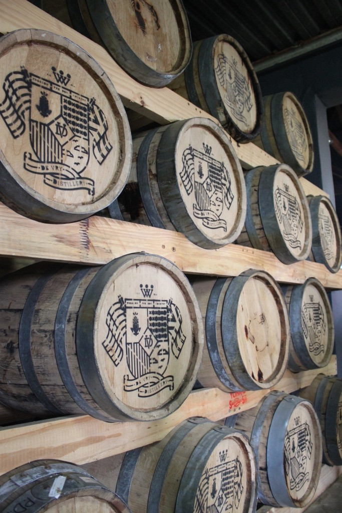 The barrels that they use to age their alcohol