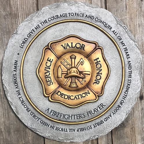 """""""A Firefighters Prayer"""" Stepping Stone"""