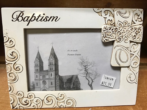 """Baptism Picture Frame - Photo 4"""" x 6"""" - Frame 8"""" x 6"""""""