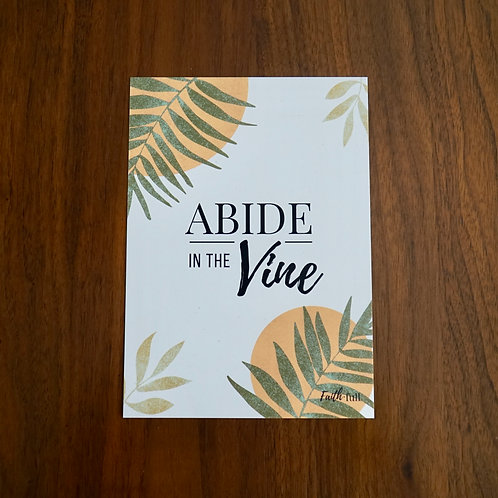 Abide in the Vine Print