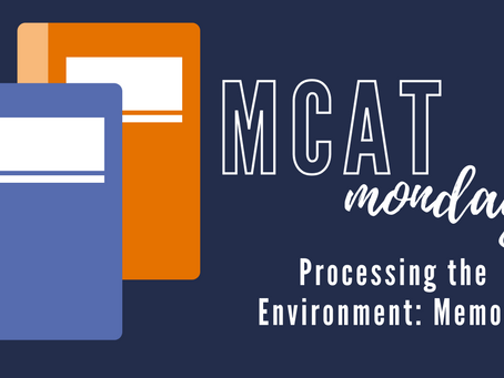 MCAT Monday: Process the Environment - Memory