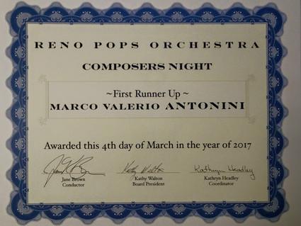 "Reno Pops awards Marco's ""Butterfly's Metamorphosis"""