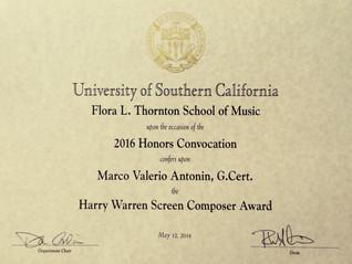 2016 Henry Warren Screen Composer Award
