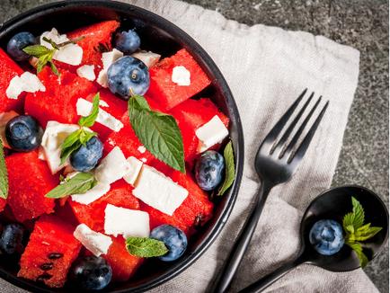 Vegan Watermelon & Blueberry Salad