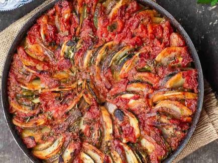 Vegan Briam (Greek Baked Zucchini and Potatoes)
