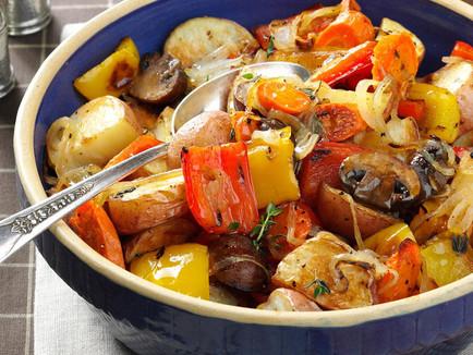Vegan Smoky Sweet Glazed Vegetables