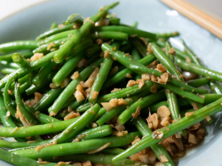 Vegan Sichuan Beans with Ginger and Garlic