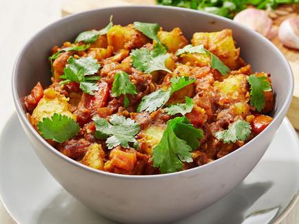 Vegetarian Bombay Potatoes