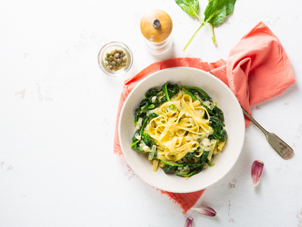 Vegan Sesame Noodles with Spinach