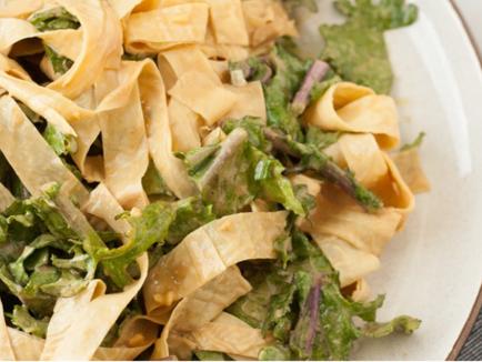 Vegan Sesame and Dino Kale Yuba Noodles