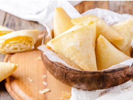 Vegetarian Tiropita                            (Greek Cheese Pastries)