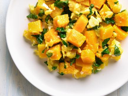 Veggie Pumpkin Stir-Fry with Salted Egg