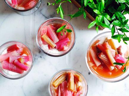 Vegan Stewed Rhubarb with Orange