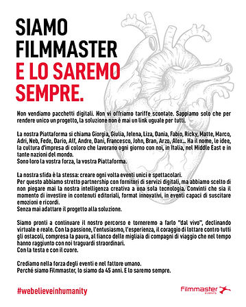 Filmmaster Events Manifesto #webelieveinhumanity