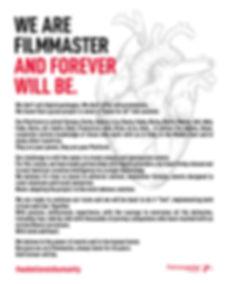 Filmmaster Evenst Manifesto #webelieveinhumanity