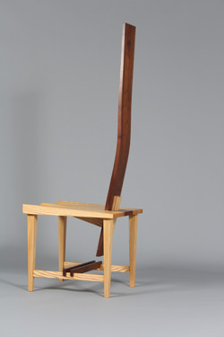 Wedged back chair