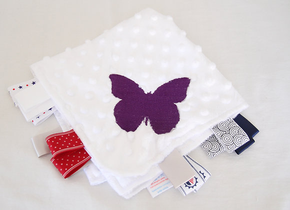 Butterfly Blanket - White