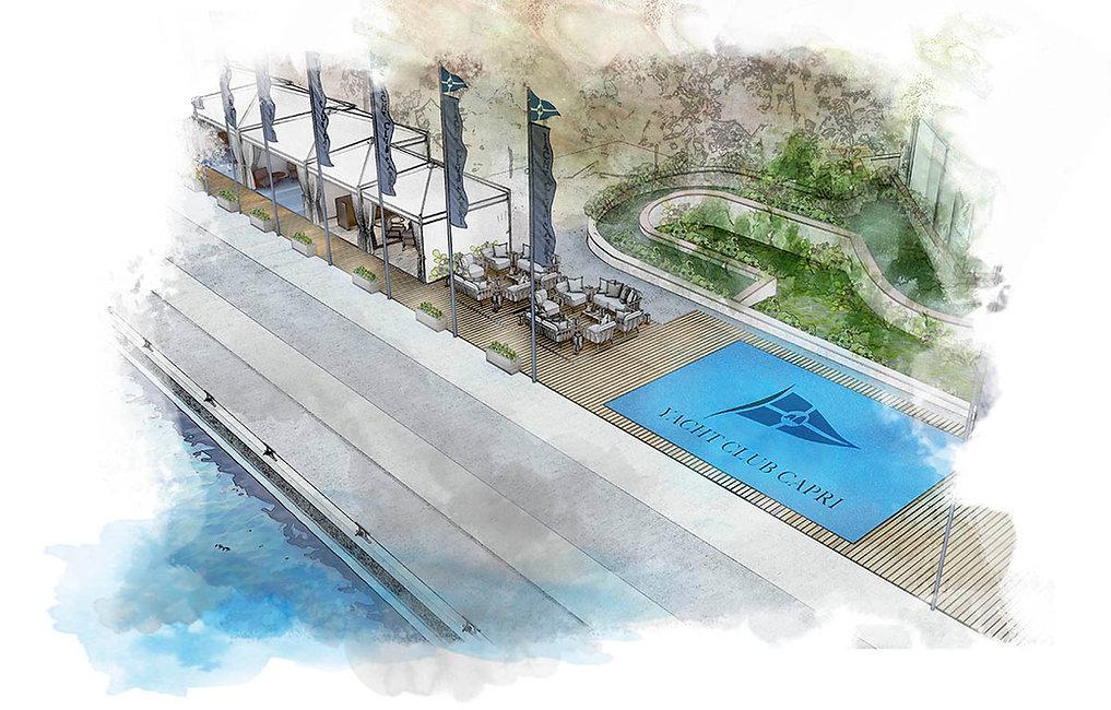 Yacht Club Capri -la nuova sede - proget