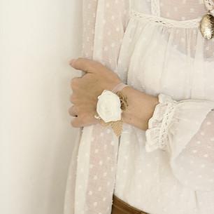 Poročna zapestnica iz tkanine