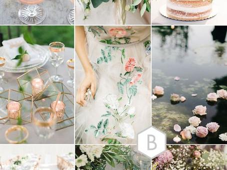 Inspirativni kolaž poročne dekoracije