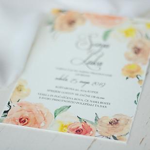 Cvetlično poročno vabilo