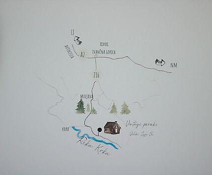Zemljevid vintage poroke Shabby house.jp
