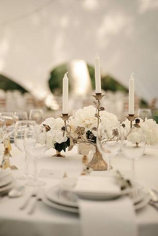 Poročna dekoracija, namizna dekoracija, vintage poroke, zlat svečnik