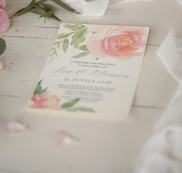 Cvetlično vabilo poroka
