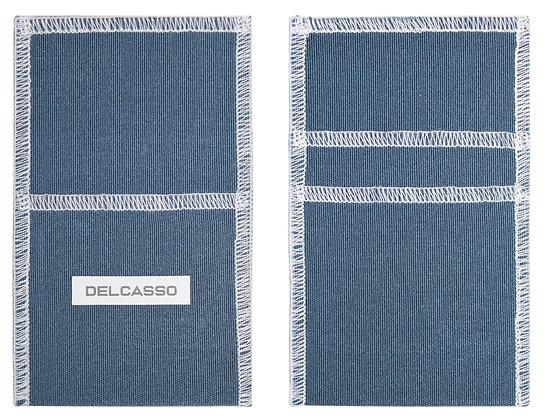 Delcasso porte-cartes bleu jeans