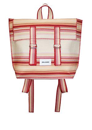 Delcasso - Sac à dos en toile de store rouge